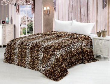 Покрывало меховое Леопард, евро в интернет-магазине Моя постель