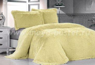 Покрывало меховое Лама светло-желтая - интернет-магазин Моя постель