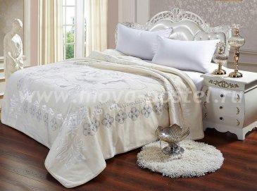 Плед Tango Scheherazade кремовый, евро размер в каталоге интернет-магазина Моя постель