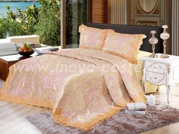Покрывало жаккард Блюмарин, розовое - интернет-магазин Моя постель