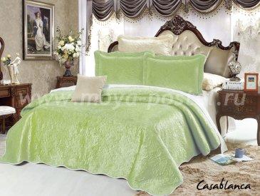 Покрывало Танго Casablanca CAS2426-19Y, фисташковое евро размер - интернет-магазин Моя постель