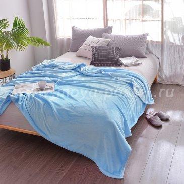 Плед Tango Allegria однотонный голубой, евро размер в каталоге интернет-магазина Моя постель