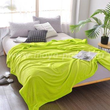 Плед Tango Allegria однотонный желтый, евро размер в каталоге интернет-магазина Моя постель