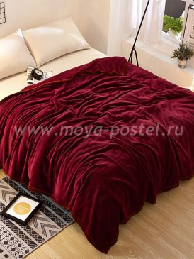 Плед Tango Allegria однотонный бордовый, полуторный в каталоге интернет-магазина Моя постель