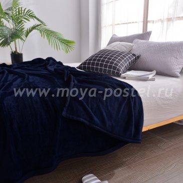 Плед Tango Allegria темно-синий однотонный, полуторный в каталоге интернет-магазина Моя постель
