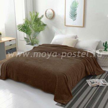 Плед фланелевый Tango Stripe 150x200, коричневый в каталоге интернет-магазина Моя постель