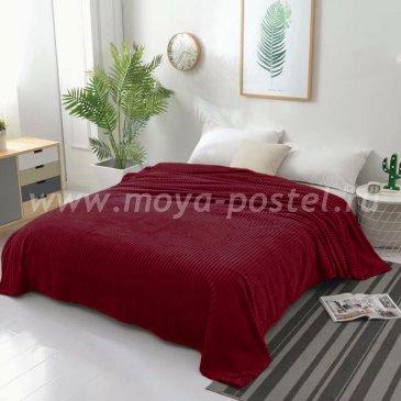 Плед фланелевый Tango Stripe 200x220, бордовый в каталоге интернет-магазина Моя постель