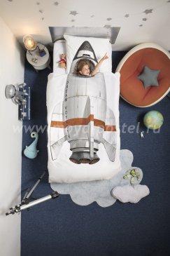 """Постельное белье для детей из перкали """"Ракета"""", полуторное в интернет-магазине Моя постель"""