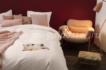 """Розовое постельное белье """"Поросенок"""", евро размер в интернет-магазине Моя постель"""