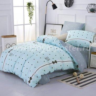 Комплект постельного белья из сатина CM041 полуторный в интернет-магазине Моя постель
