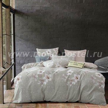 Комплект постельного белья Сатин вышивка CNR050 семейный простыня на резинке 140х200 в интернет-магазине Моя постель