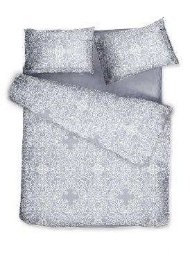 Комплект постельного белья DecoFlux Сатин Евро Versaille Grey в интернет-магазине Моя постель