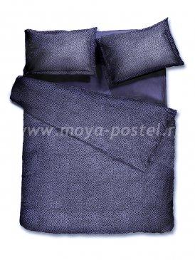 Комплект постельного белья DecoFlux Сатин Евро Indigo Dots в интернет-магазине Моя постель