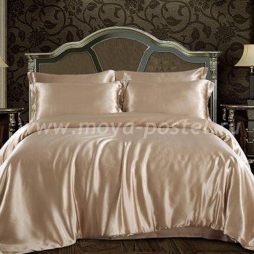 """Шелковый комплект """"Бежевый"""", евро в интернет-магазине Моя постель"""