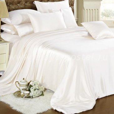 """Шелковый комплект """"Белый"""" коллекция Люкс, евро в интернет-магазине Моя постель"""