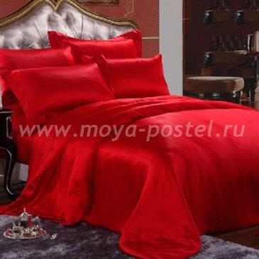 """Шелковый комплект """"Красный"""", евро в интернет-магазине Моя постель"""