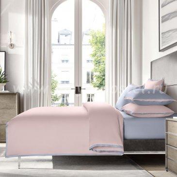 """КПБ """"Coctail"""" Нежно-розовый/жемчужно-серый, евро в интернет-магазине Моя постель"""