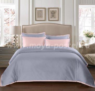 """КПБ """"Coctail"""" Жемчужно-серый/нежно-розовый , семейный в интернет-магазине Моя постель"""