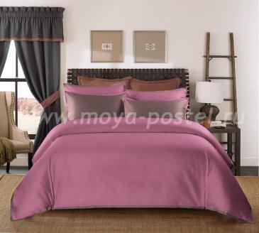 """КПБ """"Coctail"""" Темно-розовый/терракотовый, евро в интернет-магазине Моя постель"""