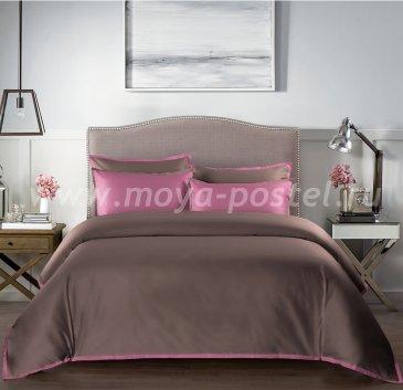 """КПБ """"Coctail"""" Терракотовый/темно-розовый, полуторный в интернет-магазине Моя постель"""