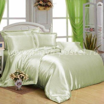 """Шелковый комплект """"Светло-Зеленый"""", евро в интернет-магазине Моя постель"""
