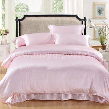"""Шелковый комплект """"Светло-Розовый"""", евро в интернет-магазине Моя постель"""