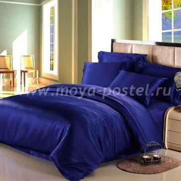 """Шелковый комплект """"Синий"""", семейный (пододеяльник 140*205) в интернет-магазине Моя постель"""
