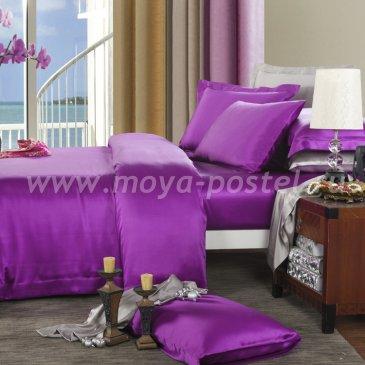 """Шелковый комплект """"Фиолетовый"""", евро макси в интернет-магазине Моя постель"""