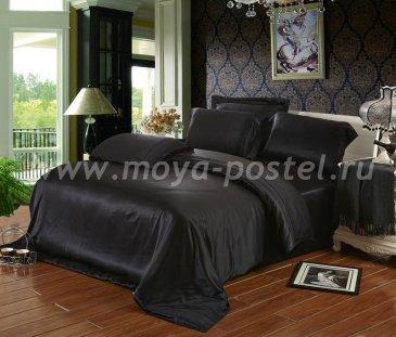 """Шелковый комплект """"Черный"""", евро в интернет-магазине Моя постель"""