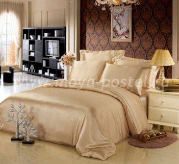 """Шелковый комплект """"Шампань"""" с простыней на резинке, евро в интернет-магазине Моя постель"""