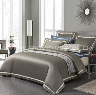 """КПБ """"Amour"""" Сумеречно-серый, евро в интернет-магазине Моя постель"""
