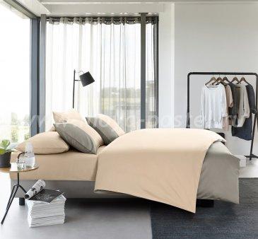 """КПБ """"Dune"""" Сумеречно-серый/Светло-бежевый евро в интернет-магазине Моя постель"""