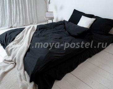 """Постельное белье """"Nude"""" Black, полуторное (50х70) в интернет-магазине Моя постель"""