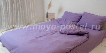 """Постельное белье """"Nude"""" Purple, двуспальное (50х70) в интернет-магазине Моя постель"""