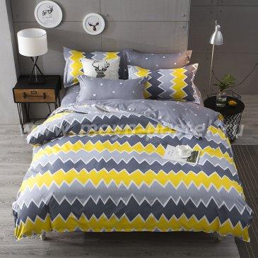 """Постельное белье Yellow Zigzag коллекция """"Design"""", полуторное наволочки 50х70 в интернет-магазине Моя постель"""