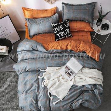 """Постельное белье Orange Stripe коллекция """"Design"""", двуспальное наволочки 70х70 в интернет-магазине Моя постель"""