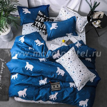 """Постельное белье Bears коллекция """"Design"""", полуторное наволочки 70х70 в интернет-магазине Моя постель"""