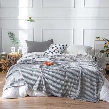 Плед фланелевый Tango Stripe серый 200x220 в каталоге интернет-магазина Моя постель