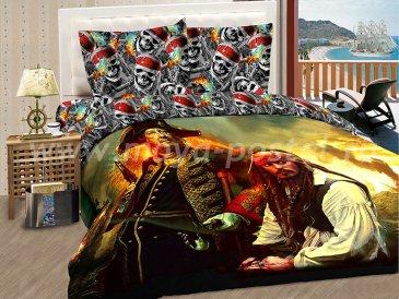 """КПБ Пираты A01 """"Тортуга"""" синтетический сатин, евро в интернет-магазине Моя постель"""