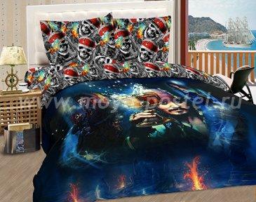 """КПБ Пираты A08 """"Чаша бессмертия """" синтетический сатин, полуторный в интернет-магазине Моя постель"""