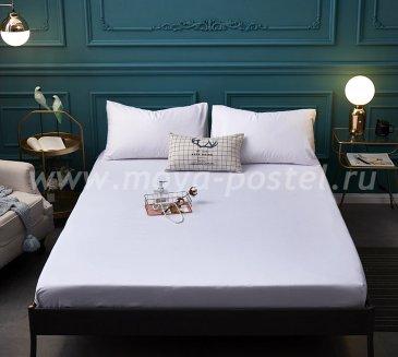 Набор Tango Deniz DEN1820-01 натяжная простынь + 2 наволочки, белая 180х200 в интернет-магазине Моя постель