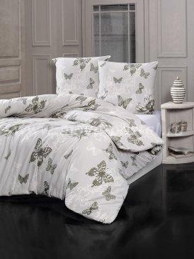 """Постельное белье """"KARNA"""" BUTTERFLY серое, полуторное в интернет-магазине Моя постель"""