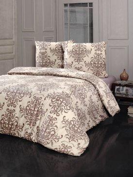 """Постельное белье """"KARNA"""" CAMILA бежевое, полуторное в интернет-магазине Моя постель"""
