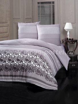 """Постельное белье """"KARNA"""" FIESTA в серую полоску, евро в интернет-магазине Моя постель"""