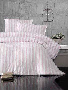 """Постельное белье """"KARNA"""" MELAN в розовую полоску, евро в интернет-магазине Моя постель"""
