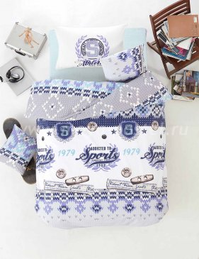 """Постельное белье """"RANFORCE"""" 1,5 сп 50х70*1 шт ATHLETIK (синий) в интернет-магазине Моя постель"""