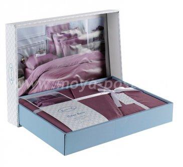 """Постельное белье """"KARNA"""" cатин однотонный """"LOFT"""" (Евро) в интернет-магазине Моя постель"""