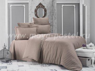 """Постельное белье бамбук """"KARNA"""" PERLA (Eвро) 50x70*2 70x70*2 (кофейный0 в интернет-магазине Моя постель"""