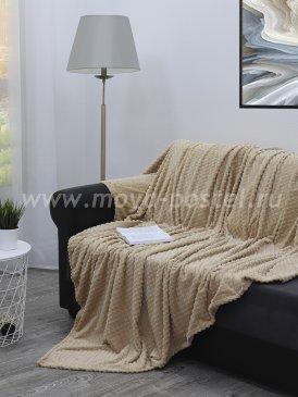 Серо-бежевый плед 14697 Плед TexRepublic Deco, евро в каталоге интернет-магазина Моя постель