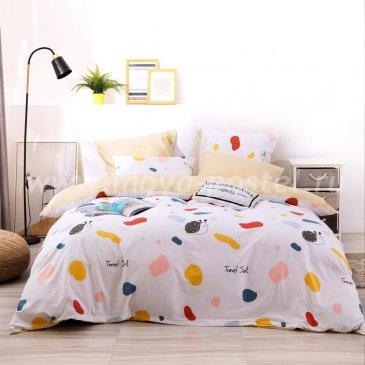 Комплект постельного белья Делюкс Сатин на резинке LR208 в интернет-магазине Моя постель
